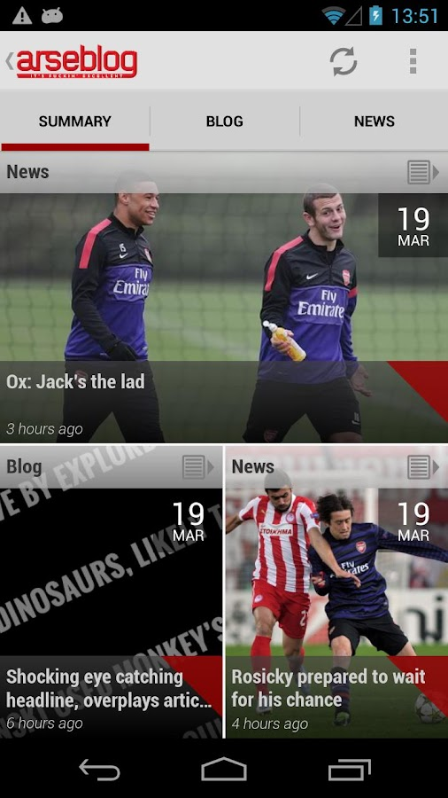 Arseblog (Official) - screenshot