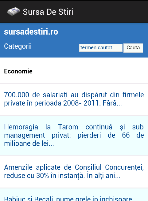 Sursa De Stiri - screenshot