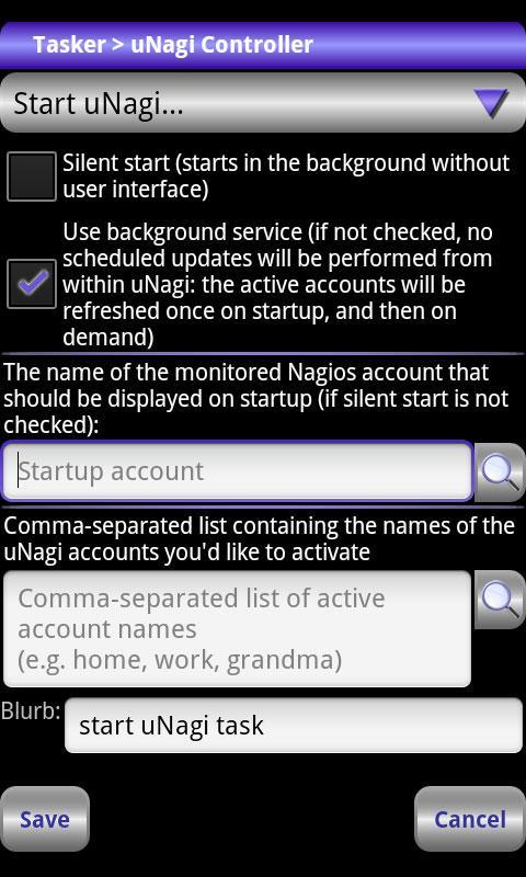 Locale uNagi Settings Plug-in- screenshot