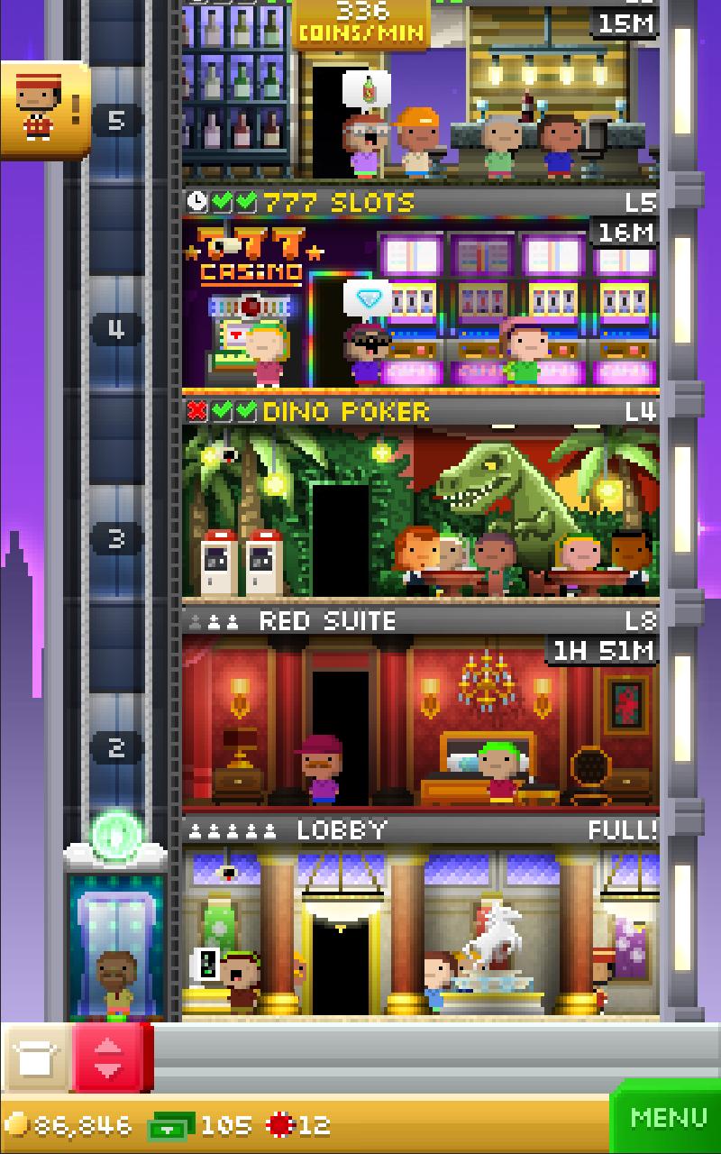 Tiny Tower Vegas screenshot #1