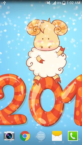 2015可愛羊年新春動態桌布
