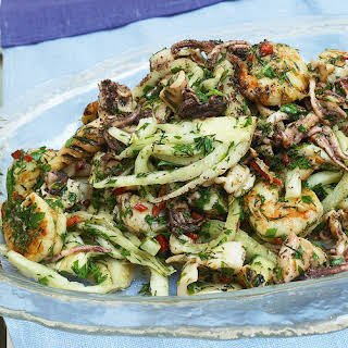 Seafood, Fennel, and Lime Salad.