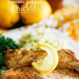 Slow Cooker Lemon Pepper Chicken.