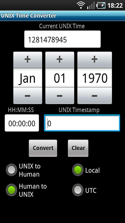 UNIX Time Converter- screenshot