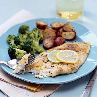 Flounder with Lemon-Lime Butter.
