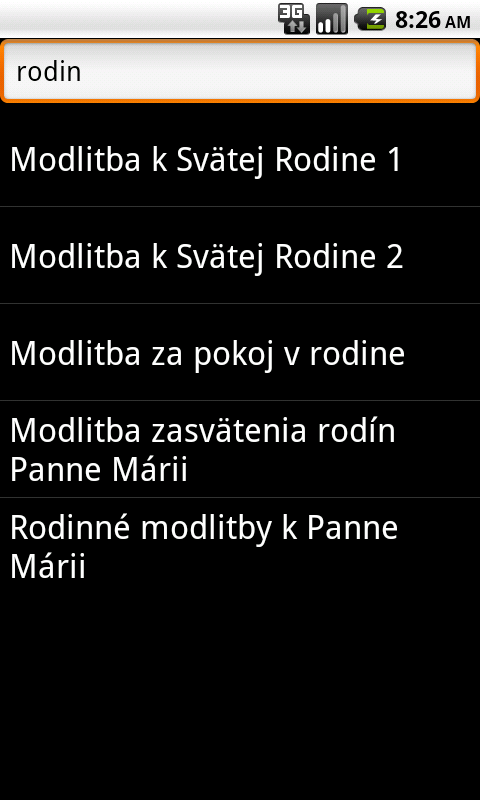 Modlitebnik- screenshot