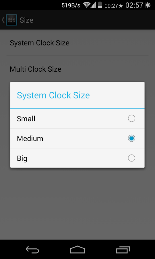 XMultiZone Clock Xposed Module- screenshot
