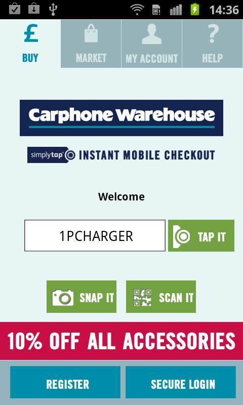 Mobile Checkout- screenshot