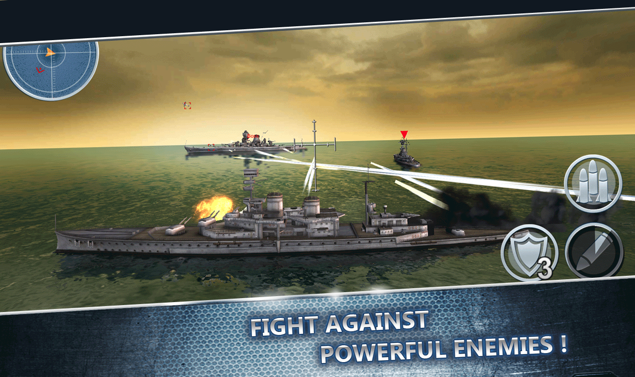 Sea Battle :Warships (3D) on AppGamer com