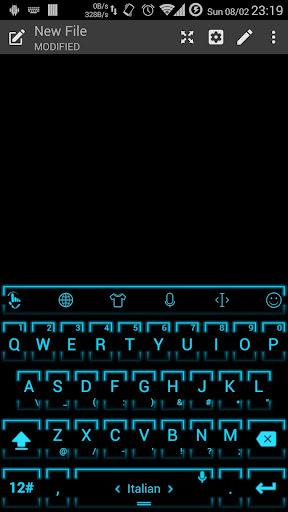 キーボードのテーマ NeonCyan2