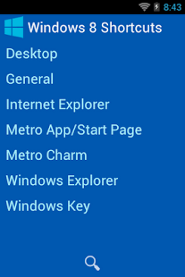 Windows 8 Shortcuts Handbook - screenshot thumbnail
