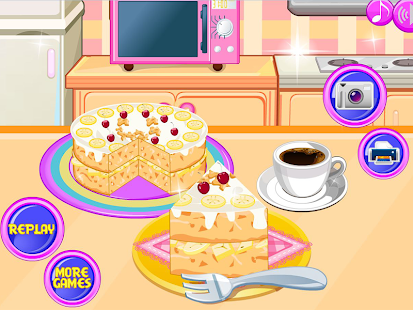 Cooking banana split cake - screenshot thumbnail
