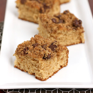 Peanut Butter Chocolate Chip Coffee Cake