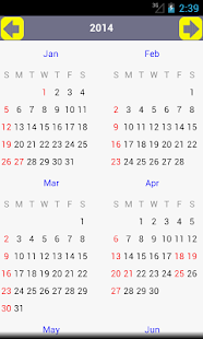 AU Holiday Calendar 2014 - screenshot thumbnail