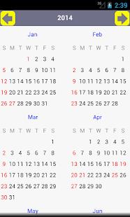 AU Holiday Calendar 2015- screenshot thumbnail