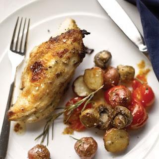 Rosemary-Lemon Chicken with Vegetables.