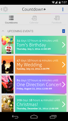 Detail Countdown+ Widget Calendar
