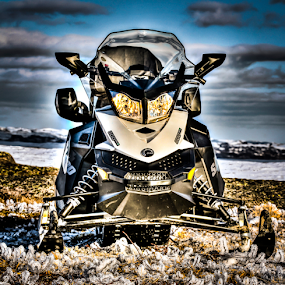 Snowmobile HDR by Eugene Ball - Transportation Other ( snowmobile, snow, transportation, sled, snow machine )
