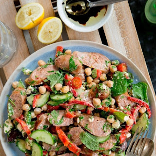 Greek-style Lamb Sausage Salad