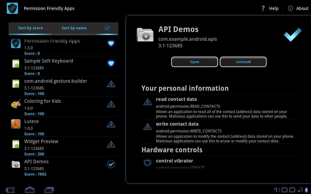 Permission Friendly Apps - screenshot
