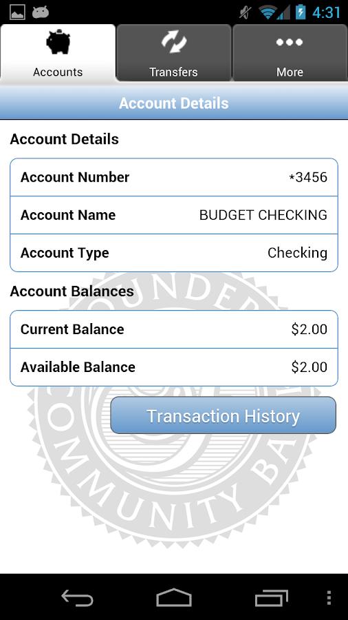 Founders Community Bank - screenshot