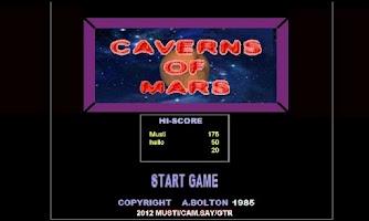 Screenshot of Caverns of Mars
