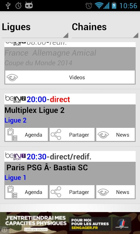 Programme Tv Foot - screenshot