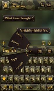 Camo Style GO Keyboard Theme