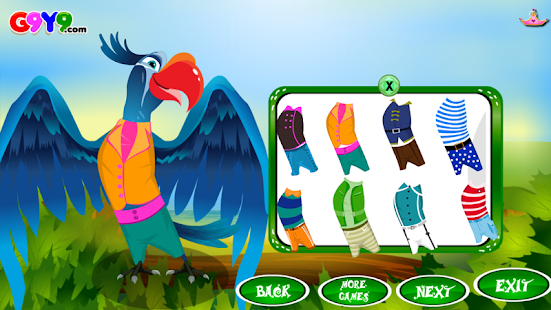 parrot dress up- screenshot thumbnail