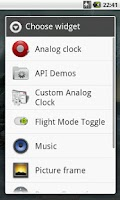 Screenshot of Flight Mode Toggle Widget