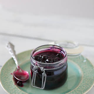 Fresh Blueberry Sauce.