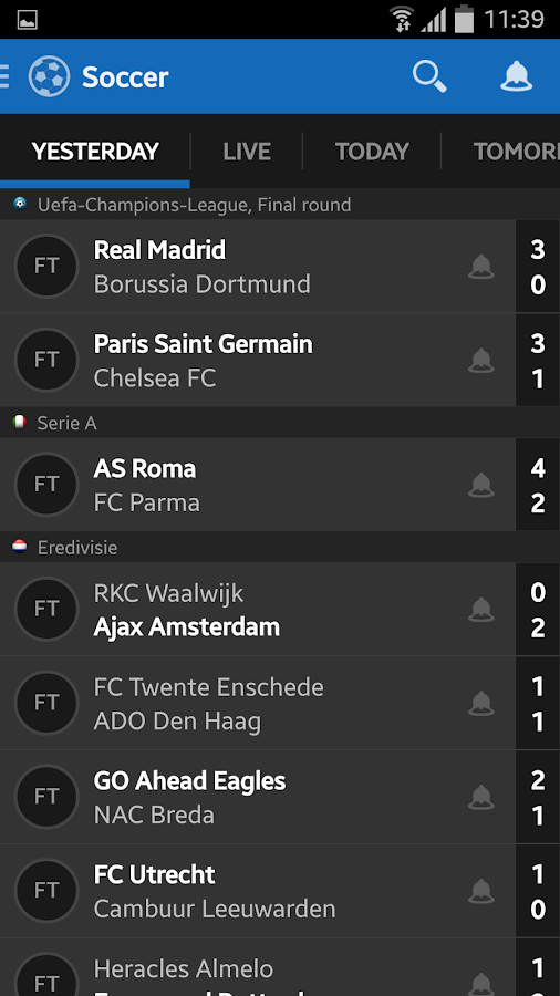 Score Alarm - LIVE Football- screenshot