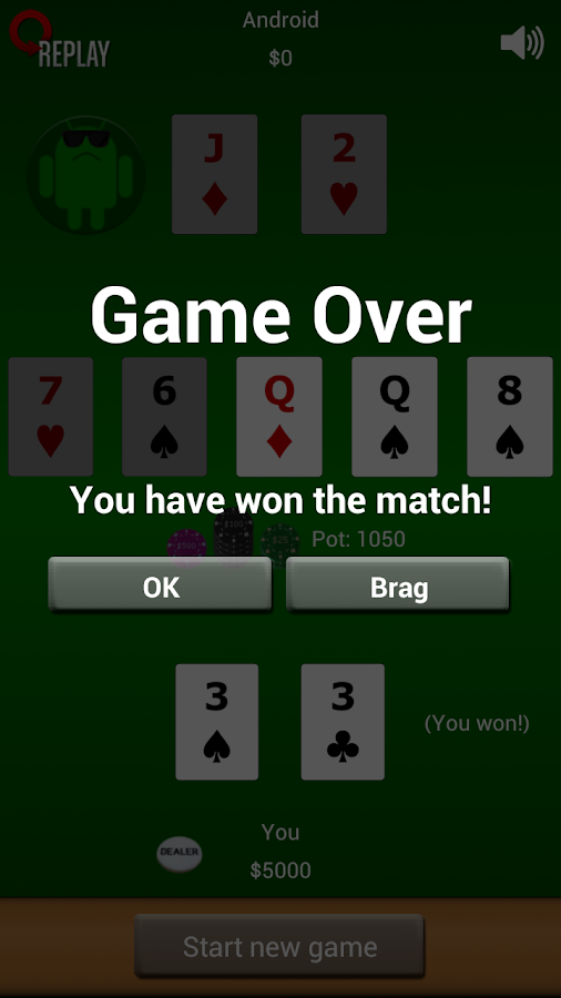 Poker Heads Up: Fixed Limit - screenshot