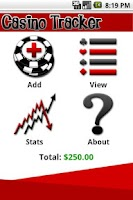 Screenshot of Casino Tracker
