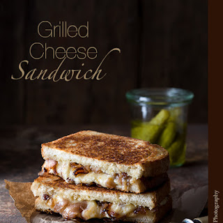 Grilled Cheese Sandwich with Tarragon and Bourbon Caramelized Shallots