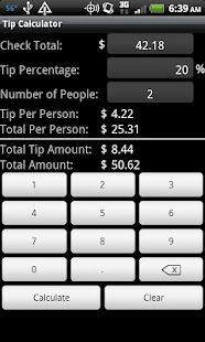 Tip Calculator - screenshot thumbnail