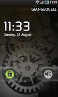 Screenshot of Silver Time Machine LWP