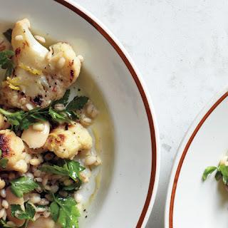 Warm Cauliflower and Herbed Barley Salad.