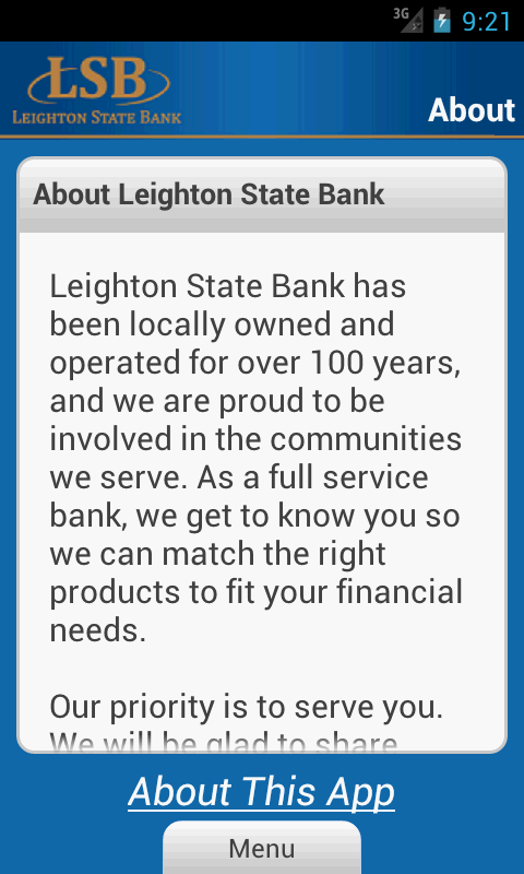 LSB Mobile Banking - screenshot