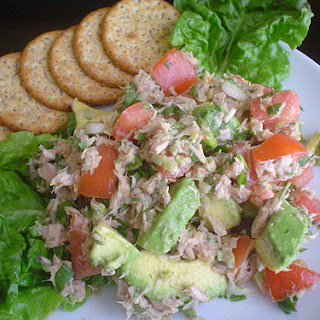 Tomato, Avocado, and Tuna Salad.