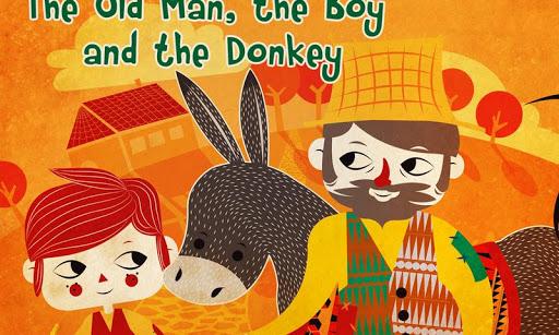 The man boy and donkey