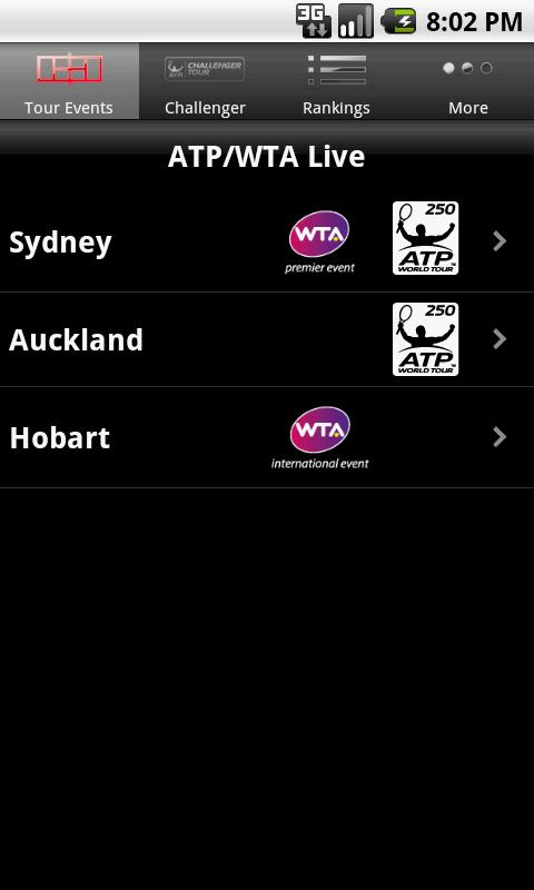 ATP/WTA Live - screenshot