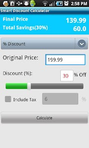 Smart Discount Calculator screenshot 0
