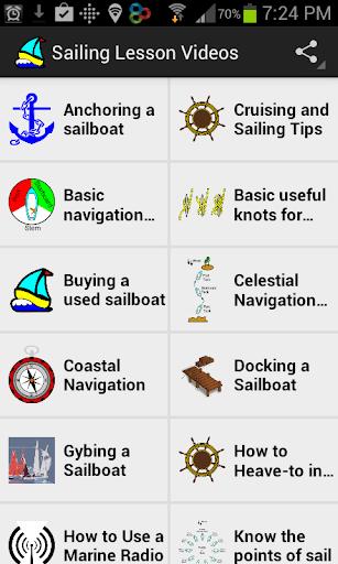 Sailing Lesson Videos