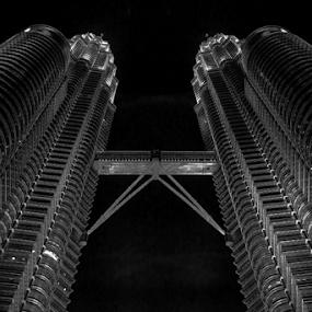 petronas tower by Johan Muliawan - Black & White Buildings & Architecture ( tower,  )