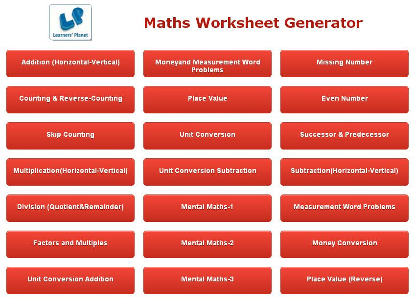 Math Worksheet Creator Android Apps on Google Play – Maths Worksheet Creator