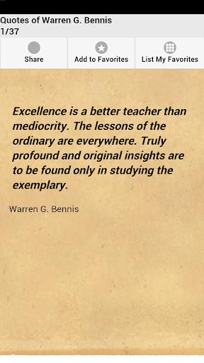 Quotes of Warren G. Bennis