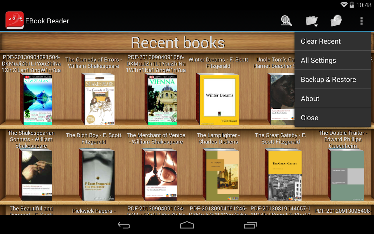 video gei gratis ebook reader android