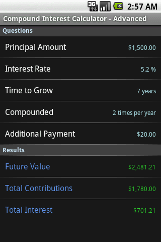 Compound Interest Calculator- screenshot
