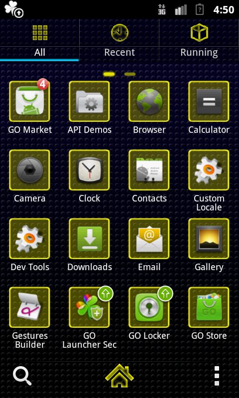 GO Launcher Love 4 Ever gold - screenshot